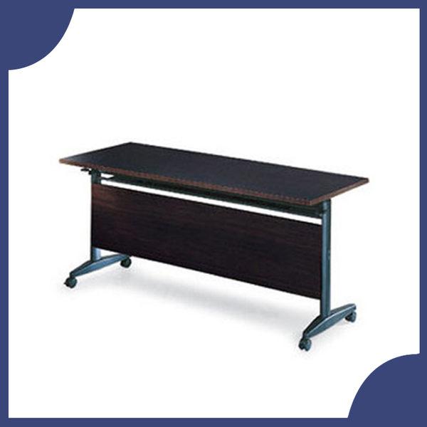 【必購網OA辦公傢俱】AT-1560E  黑胡桃木折合式會議桌