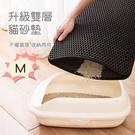 [拉拉百貨]出清※中M-雙層格狀貓砂墊 防濺貓砂盆落砂墊 過濾墊 廁所蹭腳墊 寵物腳踏墊