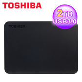 【Toshiba 東芝】 A3 2TB USB3.0 2.5吋 行動硬碟 黑靚潮III