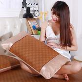 夏季涼席枕頭套冰絲枕套成人空調藤席枕片寢室枕席48*74一對 【好康八九折】