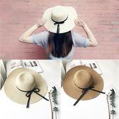 女夏季新款海灘遮陽帽可折疊沙灘出游度假草帽韓版 LL143『美鞋公社』