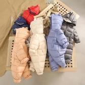 連體衣新生兒衣服嬰兒連體衣寶寶外出服抱衣幼兒冬裝套裝爬爬服 交換禮物