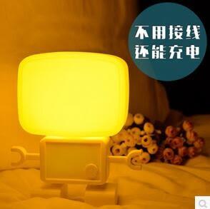 創意聲控機器人體感應小夜燈臥室床頭燈FA05105『時尚玩家』