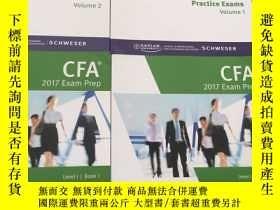 二手書博民逛書店CFA罕見2017 EXAM PREP(Book1—5+Volu
