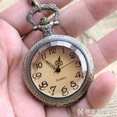 懷錶復古茶色大表盤清晰大數字老人懷表翻蓋學生電子表考試用實用掛表 igo快意購物網