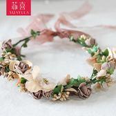 韓式新娘?飾度假花環海邊蜜月花環 結婚婚禮伴娘花朵頭飾品 Mt8059『小美日記』