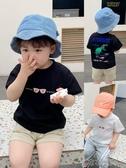 寶寶T恤2020夏季新款恐龍印花男童短袖上衣嬰兒打底衫兒童衣服潮 布衣潮人
