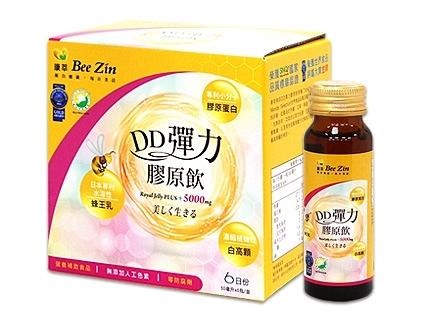 BeeZin康萃 美活DD彈力膠原飲單盒(共6罐)