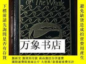 二手書博民逛書店Melville罕見梅爾維爾 : Moby Dick 白鯨 Easton Press 精裝全皮面典藏本 大量插圖部