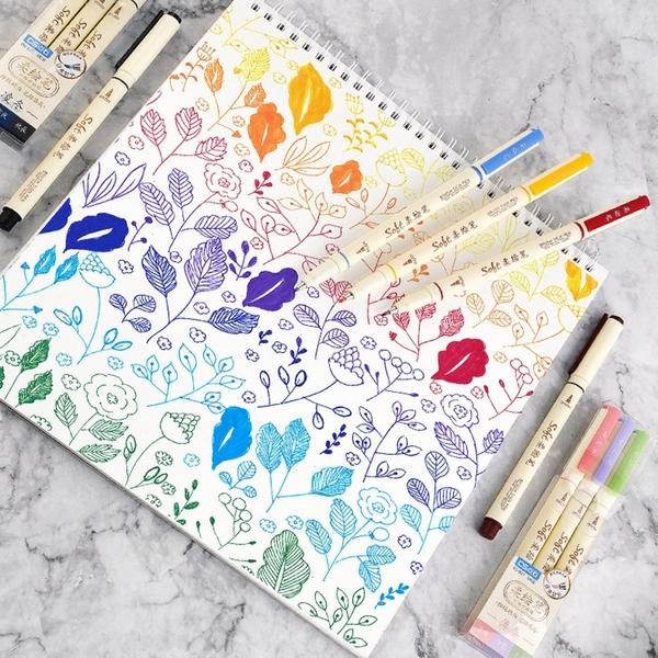 【BlueCat】四季套裝柔繪筆(1入) 彩繪 手帳 塗鴉 書法 小楷