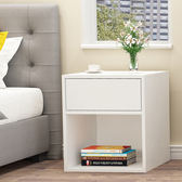 床頭櫃簡易床頭櫃簡約收納櫃小櫃子經濟型組裝儲物櫃酒店臥室床邊櫃WY【快速出貨八折優惠】