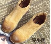 短靴歐美范兒簡約大牌復古女靴