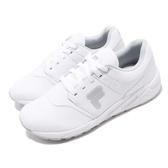FILA 慢跑鞋 J315T 白 灰 基本款 運動鞋 小白鞋 休閒鞋 男鞋【PUMP306】 1J315T111
