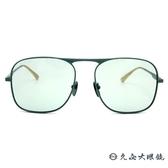 GUCCI 墨鏡 GG0335S (綠-金) 復古框型 太陽眼鏡 久必大眼鏡