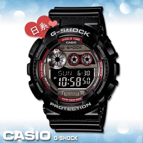 CASIO 卡西歐 手錶專賣店 GD-120TS G-SHOCK 電子錶 日本版 橡膠錶帶 耐衝擊構造 抗磁 倒數計時