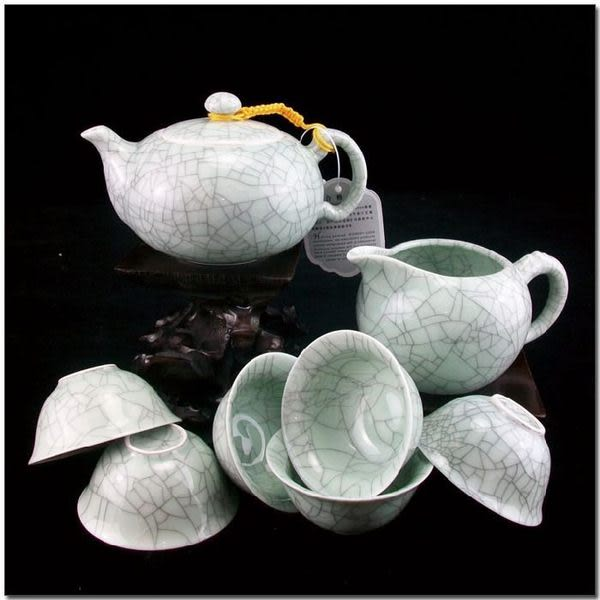 8頭哥窯冰裂茶具套裝