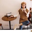 《FA2185》麻花編織長版針織背心毛衣 OrangeBear