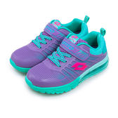 LIKA夢 LOTTO 專業KPU氣墊慢跑鞋 鳳凰展翼系列 紫湖水綠 5305 大童