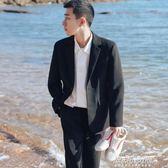 西裝 新款氣質純色小西裝男士休閒西服上衣修身韓版外套潮衣服   傑克型男館