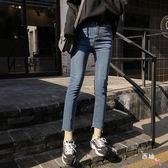 高腰八分軟妹直筒牛仔褲新款九分褲子女 萊爾富免運