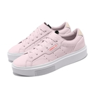 adidas 休閒鞋 Sleek Super W 粉紅 白 女鞋 復古 運動鞋 厚底 【ACS】 EE4505