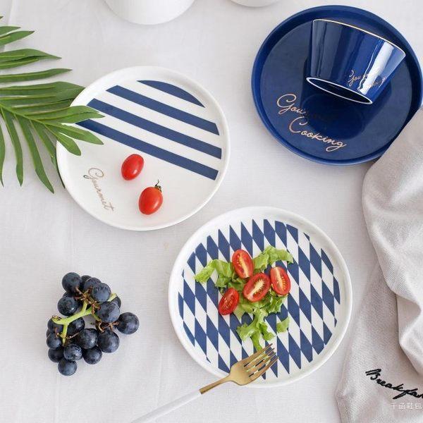 托盤 北歐風格西餐盤子沙拉盤創意點心碟菜盤水果意面盤烘焙牛排盤 WY【快速出貨好康八折】