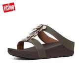 精選新降【FitFlop】FINO DRAGONFLY H-SLIDES H型設計涼鞋-女(灰綠色)