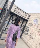 腰包 胸包2018韓版大王單肩斜挎包女休閒腰包ins包包潮包 第六空間