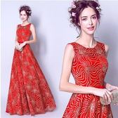 M-天使嫁衣 雍容奢華 夢幻迷離紅色新娘婚紗禮服結婚敬酒服7590