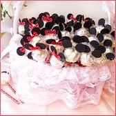 米奇米妮迷你棉花糖棒X100支+大提籃X1個-情人節聖誕節 生日分享 慶生 婚禮小物 禮贈品