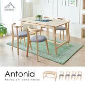 安東妮雅簡約質感原木餐桌椅組-一桌四椅[Shenshan] /H&D 東稻家居