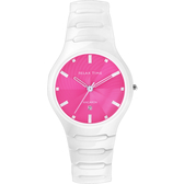 Relax Time 馬卡龍系列陶瓷手錶-白x粉紅 RT-26-5