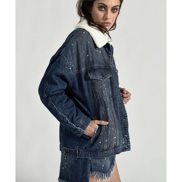 OneTeaspoon 外套 POP CULT DISTRESSED ALL STAR JACKET-藍(女)