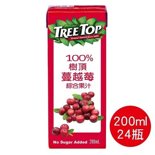 【奇奇文具】樹頂TreeTop 100%蔓越莓綜合果汁200ml-利樂包