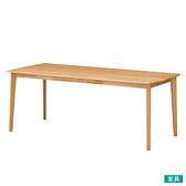 ◎實木餐桌 ALNUS 180×80 LBR 榿木 NITORI宜得利家居