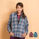 Polarstar 格子襯衫│保暖│珊瑚絨女外套P13210『藍』