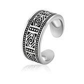 【5折超值價】【316L西德鈦鋼】最新款經典復古首個性圖紋造型男款鈦鋼戒指