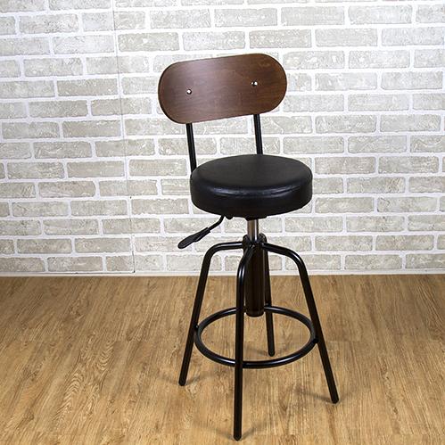 吧台椅/日式吧台椅/吧台桌椅/升降椅/曲木 (黑色) MIT台灣製【61201-BK】Tasteful 特斯屋