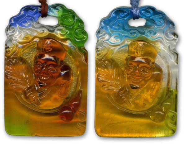 鹿港窯~居家開運水晶琉璃項鍊~濟公 附精美包裝◆免運費送到家