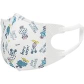 小禮堂 迪士尼 米奇米妮 立體口罩 (滿版款) 4973307-38583