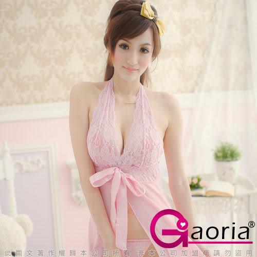 情趣睡衣 性感內衣褲 激情誘惑 角色扮演 Gaoria 甜美花蕾-美背式性感睡襯衣 粉色系 深V