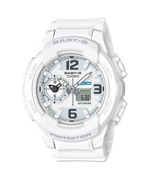 【時間光廊】CASIO 卡西歐 Baby-G 防水100m 白色 全新原廠公司貨 BGA-230-7BDR