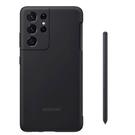 【免運費】SAMSUNG Galaxy S21 Ultra 原廠薄型矽膠材質背蓋(附S Pen) 黑