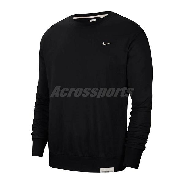 Nike 長袖T恤 Standard Issue Crew 黑 白 男款 大學T DRI-FIT 運動休閒 【ACS】 CK6359-010