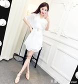 雪紡洋裝 法式小眾洋裝減齡套裝女2020新款夏裝時尚吊帶裙襯衣雪紡裙氣質