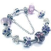 串珠手鍊-琉璃水晶飾品紫色生日情人節禮物女配件73bo90【時尚巴黎】