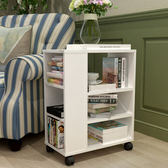 特價創意移動書架兒童書柜落地柜儲物柜收納架帶輪置物架沙發邊幾WZ2843 【極致男人】TW