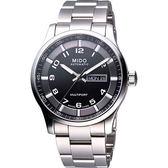 MIDO 美度 Multifort Gent 時尚機械手錶-黑 M0054301105200
