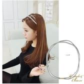【Gina&Chia】韓國髮飾 來自星星的你全智賢雙線皮筋銀色髮帶 (1入)