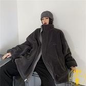 棉服羊羔毛外套女冬季百搭兩面穿寬鬆保暖棉衣【雲木雜貨】
